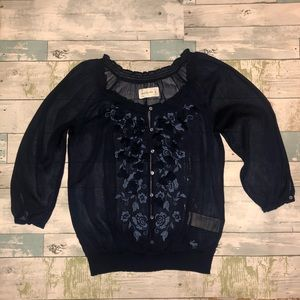 Abercrombie & Fitch Sheer Blouse Size M